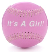 It's A Girl! Baseball
