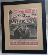 Billy Martin -- signed New York Post