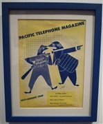Pacific Telephone framed magazine cover