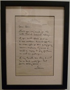 Tom Seaver handwritten letter