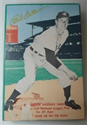 Vintage Bob Feller Big League Baseball Game